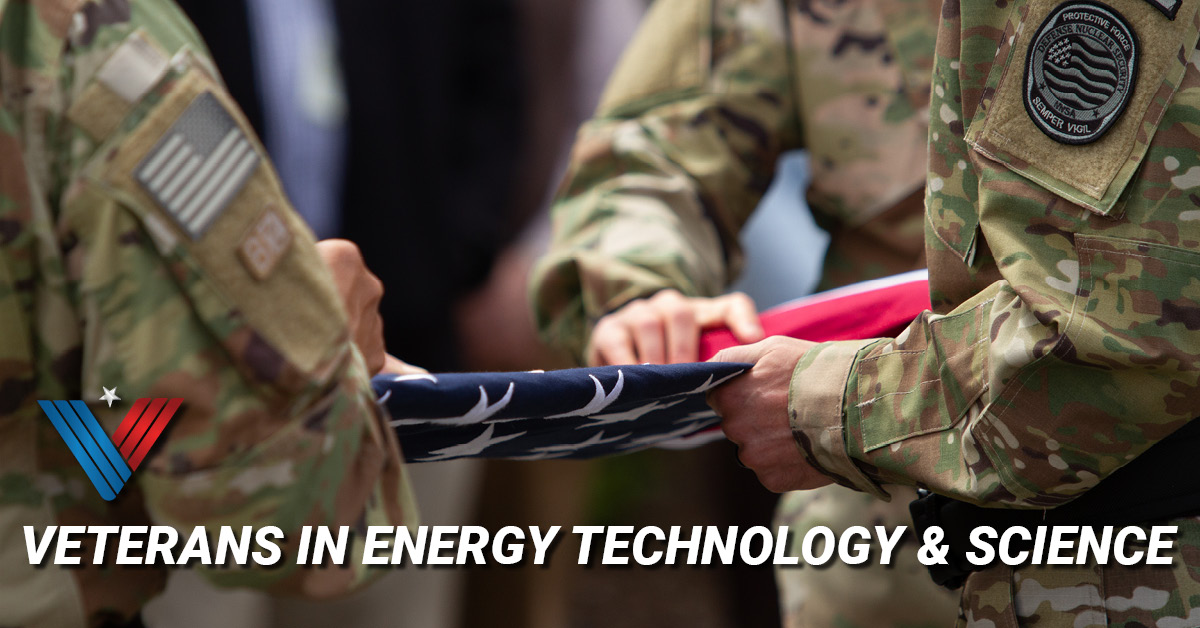 Veterans In Energy Technology & Science, Security Police Officers folding the American Flag